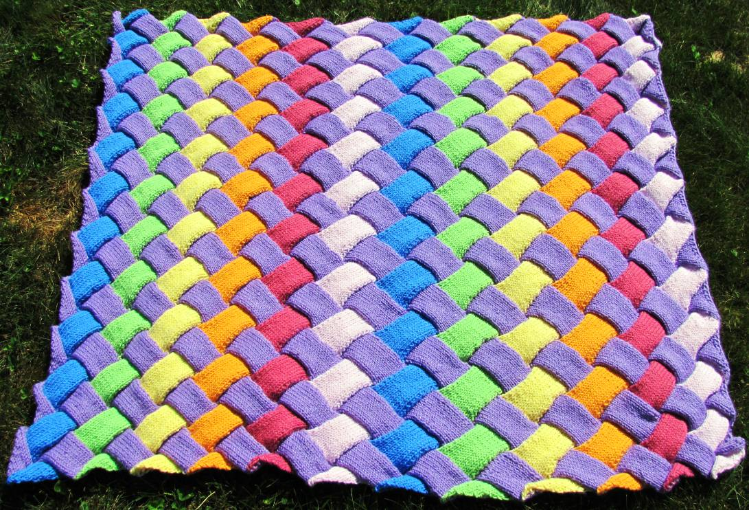 Taking time out to knit a baby blanket | PVC Loom | Start Weaving ...